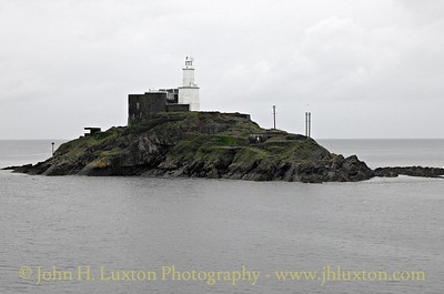 Mumbles Lighthouse, Swansea, Wales - August 24, 2015