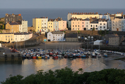 tenby harbor evening 060