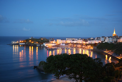 Tenby in the evening blue