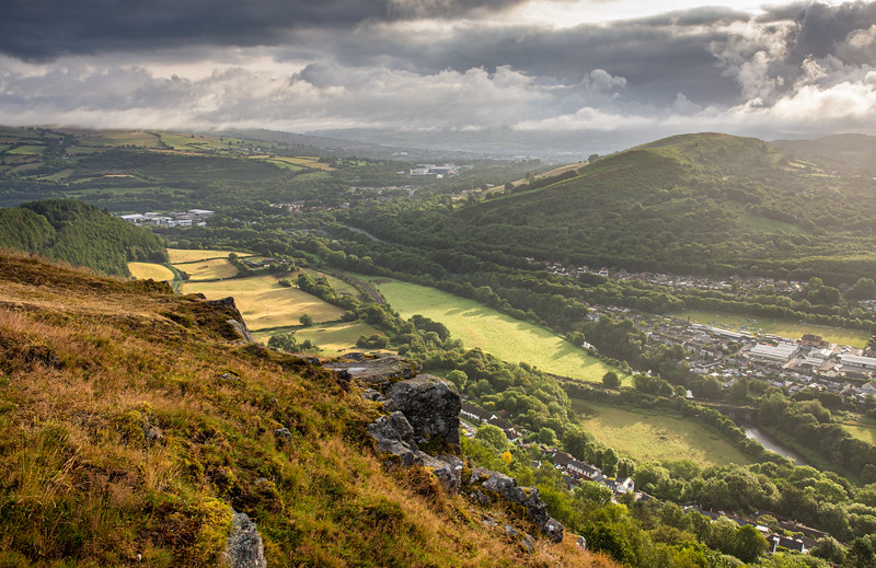 Taff valley from The Garth