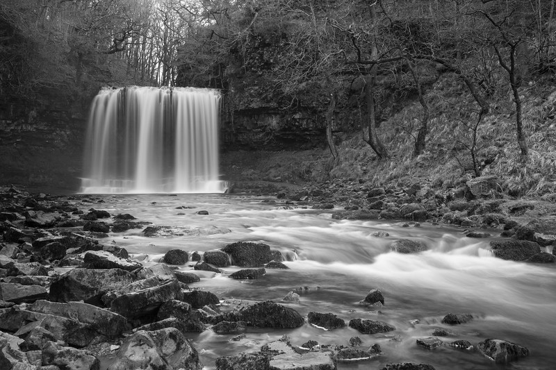 Sgwd Yr Eira waterfall in the Brecon Beacons National Park