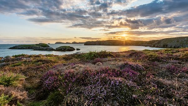 Sunset over Ramsay Island