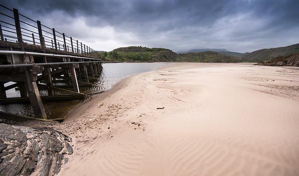 Pont Briwet bridge on the Snowdonia coast