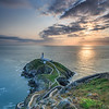 South Stack Lighthouse, Anglesey at sunset - 1
