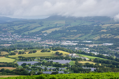 Maes Bach solar farm and the Taff Valley