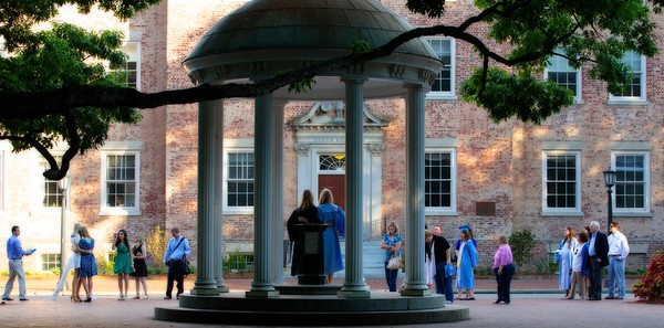All week The Old Well is the most popular place on campus.