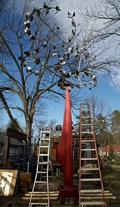 """Murmuration"" getting ready for its new home at the NC Zoo"