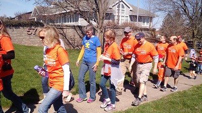 Leah McDonald - Oneida Daily Dispatch Hundreds of walkers turned out to the Kelberman Center's Walk for Autism in Oneida on Saturday, April 16, 2016. The group left from Oneida High School and walked along Route 5 before heading back to the school. It's one of several walks held in honor of Autism Awareness Month.