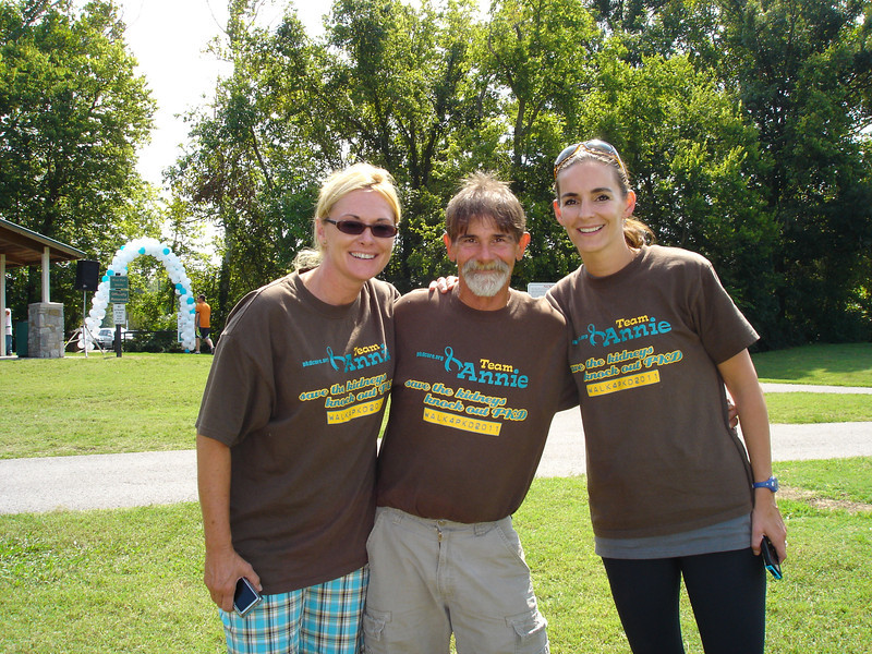 Rhonda, Bob, & Amber, PKD Walk 2012