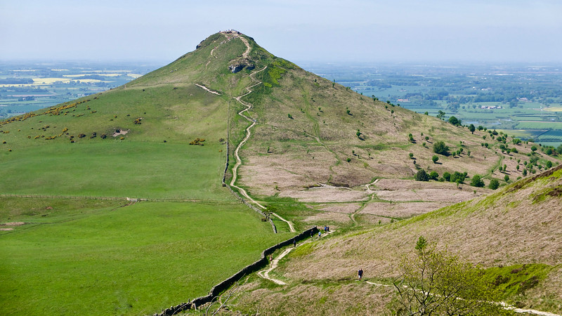 Walk from Hutton Village to Roseberry Topping, May 19, 2018