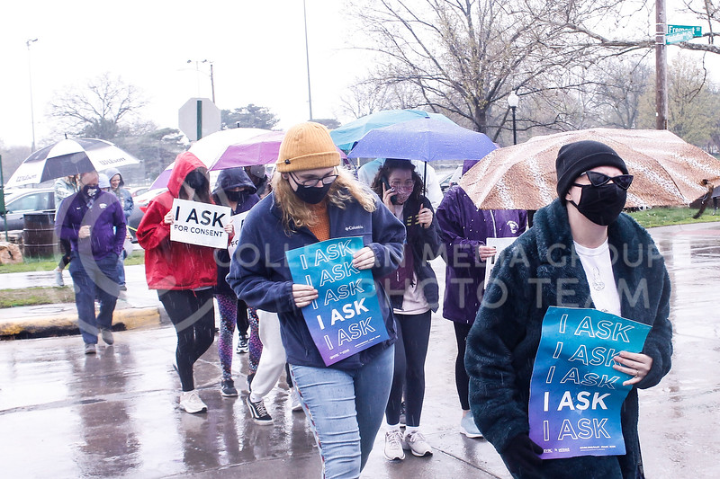 On April 23, 2021, K-State students and community members walked from City Park to the K-State Student Union for the annual Walk Against Sexual Violence. (Kaylie McLaughlin | Collegian Media Group)