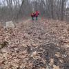 Satisfied with their view, members of Hike Beautiful Billerica begin their return trek home. Photo by Mary Leach