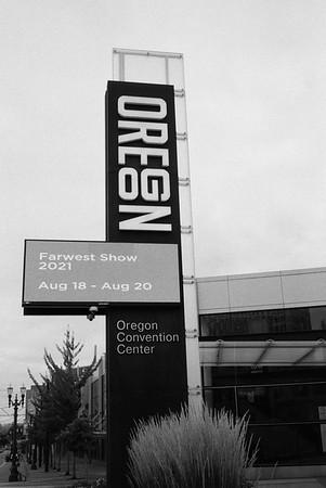 Portland Convention Center 2021/08/20 | Konica C35 Automatic | Ilford HP5 400