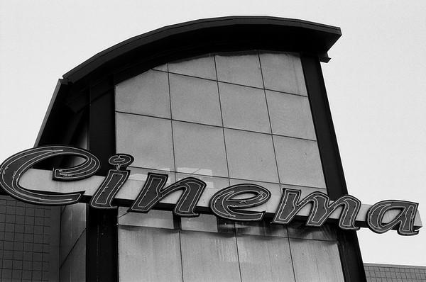 Outside the Sandy Cinema