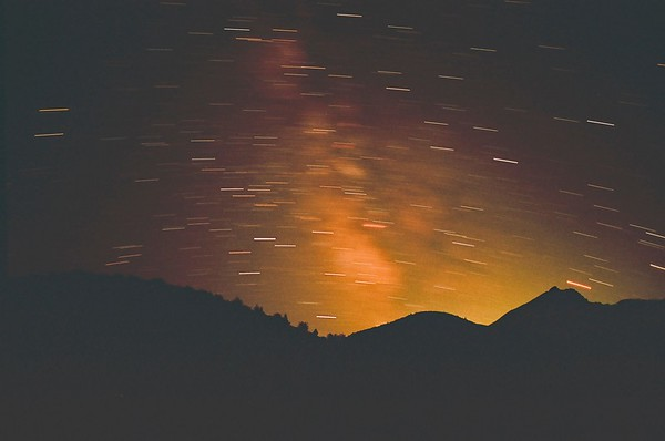 Windy Ridge Star Pics, Mt St Helens 2021/08/29 | Pentax K1000 | Silberra 160