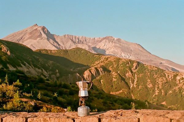 Windy Ridge Sunrise, Mt St Helens 2021/08/29 | Pentax K1000 | Silberra 160