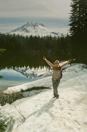 Mt Hood & Burnt Lake with Chiyoko.
