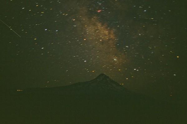 Camp Milky Way 2021/07/10   Pentax K1000   2004 Fujichrome Provia 100F