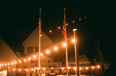 Government Camp by night.