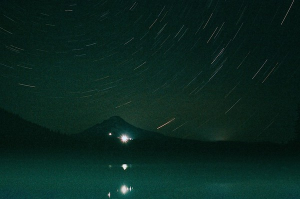 Star Trails at Trillium Lake.