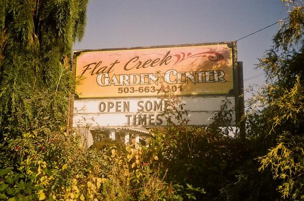 Flat Creek Garden Center is open sometimes. Olympus XA | Lomo Metropolis | 2020/10/03