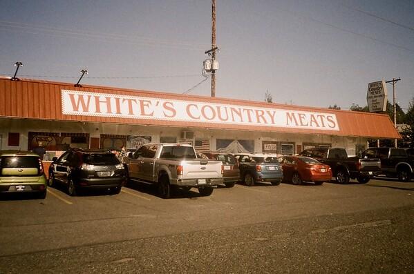 Whites Meats is always busy! Olympus XA | Lomo Metropolis | 2020/10/03