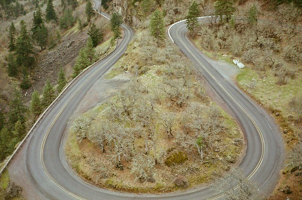 The road to Rowena Crest