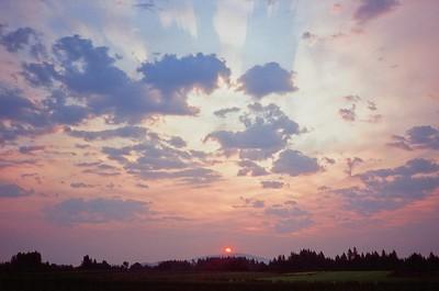 Sunrise from Home, 2021/08/03 | Olympus XA | Velvia 100