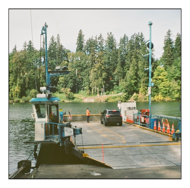 The Canby Ferry with a Lubitel 166