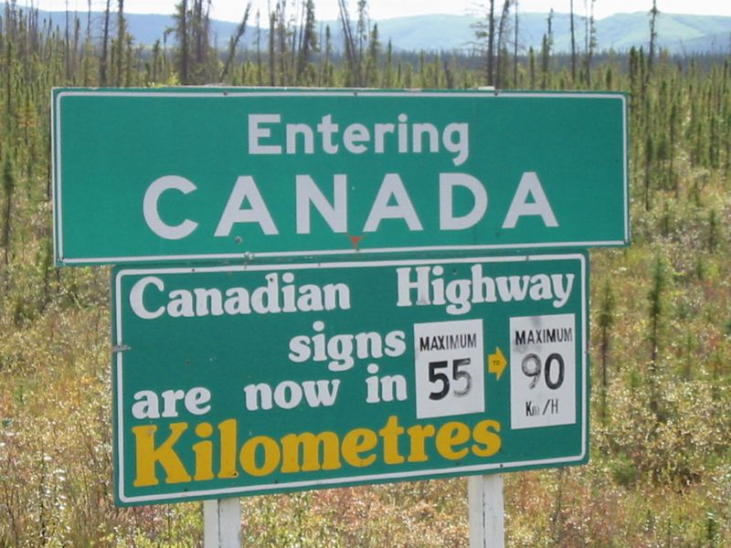 After several thousand miles through Canada, I can convert kilometers to miles in a snap!  If 1 kilometer = .6 miles and the next gas station is 28 kilometers away, then how far is it to Chick-Fil-A?