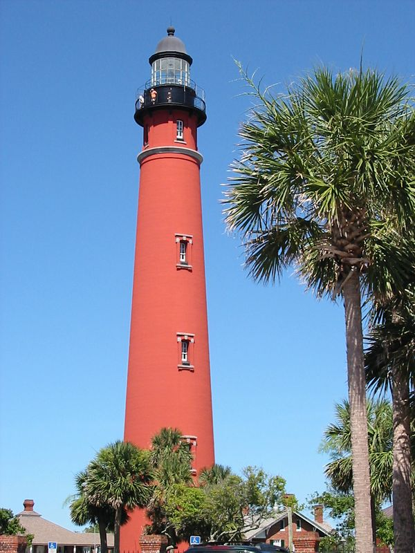 Haven't I run out of lighthouses yet?  This one is the Ponce Inlet Lighthouse, just south of Daytona.