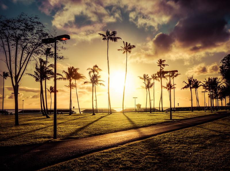Sunset Through Magic Island