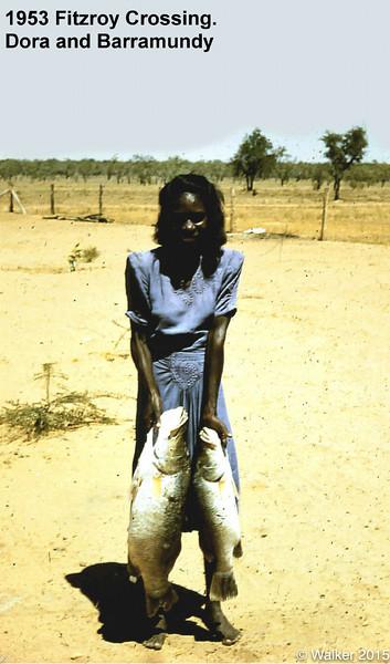 1953 Dora and Her catch of Baramundie
