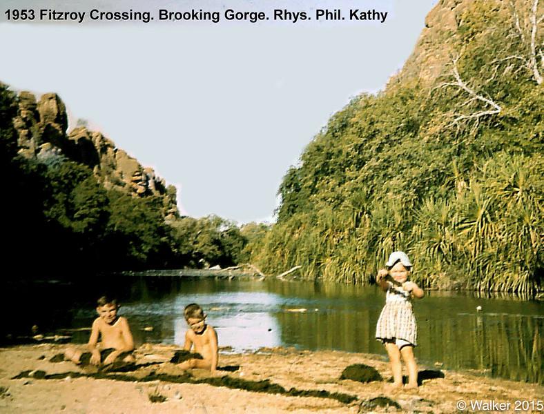 1953  Brooking Gorge. Rhys. Phil. Kathy