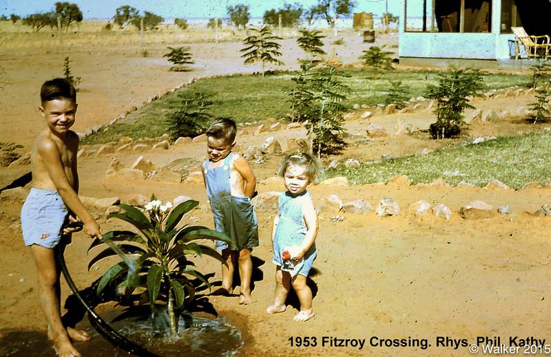 1953 Fitzroy Crossing. Rhys. Phil. Kathy