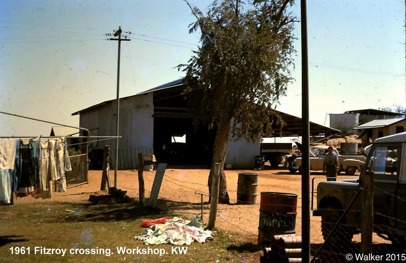 1961 Fitzroy crossing. Workshop.