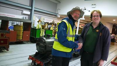Meeting David Rounce at Ravenglass Railway Museum