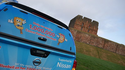 Brian Burnie & Bluebell Bus at Carlisle Castle