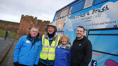 Mike Zeller from BBC Cumbria with Brian and Team
