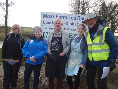 Passing Moat Farm, invited for Tea!