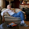 Ed Walsh, 85, of Fitchburg relaxes in his house in Fitchburg as he talks about walking the 13.1 miles to raise money for the Jimmy Fund on Tuesday afternoon. SUN/JOHN LOVE