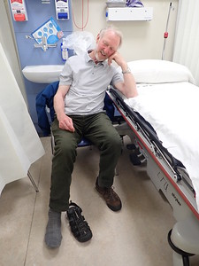 Brian at Bantry Hospital for a foot check!