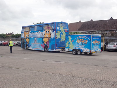 Bluebell Bus and Brian Burnie arrive in Limerick