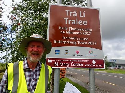 Brian Burnie in Tralee on 7,000 mile walk