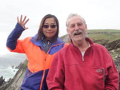Visitors David Parker and Fan Zhang