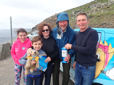 A lovely Irish family on holiday from Galway