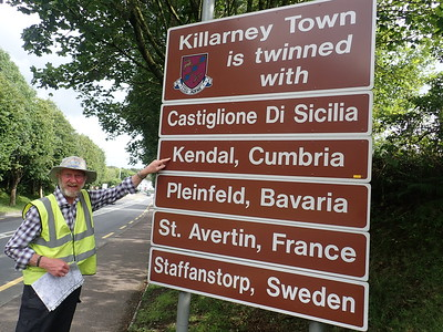 Arrival in the town of Killarney