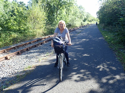 Mrs.B on two wheels!