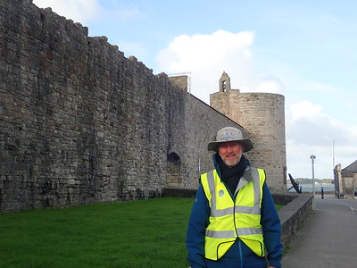 Brian walking through Caernarfon