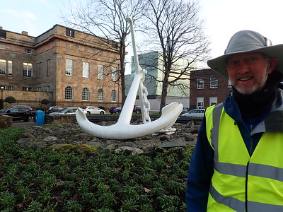 An anchor presented to The Port of Greenock